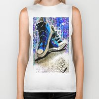 converse Biker Tanks featuring Converse Blues by Frankie Luna III