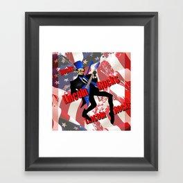 lincoln rocks Framed Art Print