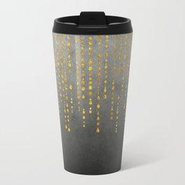 Dark Glamour golden faux glitter Travel Mug