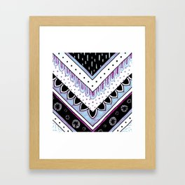 Iridescent Feathers Framed Art Print