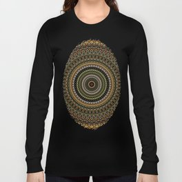 Fractal Kaleido Study 001 in CMR Long Sleeve T-shirt