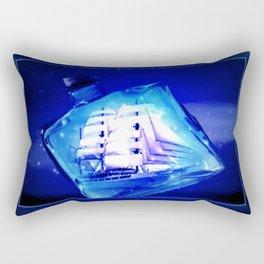 Ship in a bottle. Rectangular Pillow