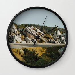 The road that cuts through Rocks  Wall Clock