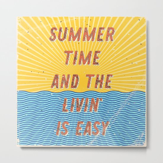 Summertime - A Hell Songbook Edition Metal Print