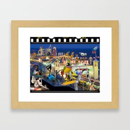 Welcome to Brighton Framed Art Print