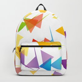 Fractal triangles with unfolding colors Backpack