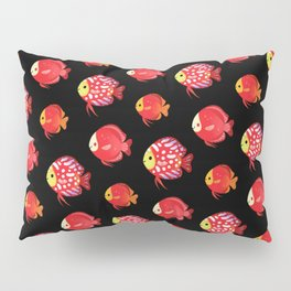 Red discus Pillow Sham