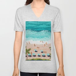 Dream in Colors Borrowed From The Sea #illustration Unisex V-Neck