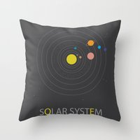 solar system Throw Pillows featuring Solar System by Loaded Light Photography