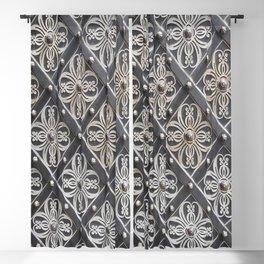 Metallic And Decorative - Grey Monochrome #decor #society6 #buyart Blackout Curtain