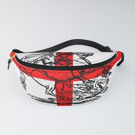 George and the Dragon Patriotic Flag Fanny Pack