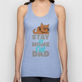 Stay At Home Cat Dad Unisex Tank Top