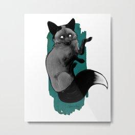 Silver Fox Metal Print