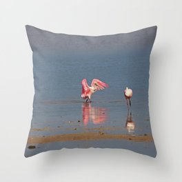 A Roseate Rumba Throw Pillow