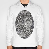 zentangle Hoodies featuring zentangle by paucarbajal
