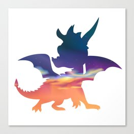 Spyro Haunted Towers Skybox Canvas Print