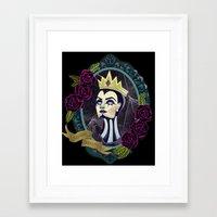 evil queen Framed Art Prints featuring Evil Queen by Tarryn Ann Art