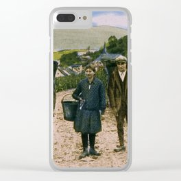 1900 Mosel wine harvest Schengen Luxembourg Clear iPhone Case