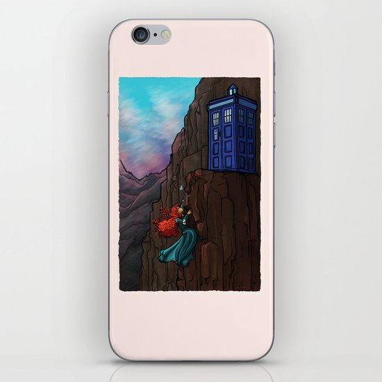 Touch the sky...and then the stars. iPhone & iPod Skin