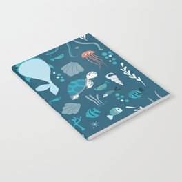 Sea creatures 004 Notebook
