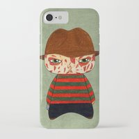freddy krueger iPhone & iPod Cases featuring A Boy - Freddy Krueger by Christophe Chiozzi