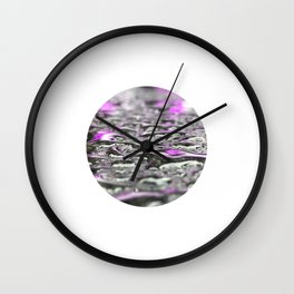Droplets in Times Square No.3 Wall Clock