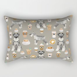 Schnauzer coffee dog breed pet art pure breed cafes pupuccino Rectangular Pillow
