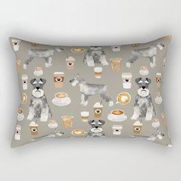 Schnauzer coffee dog breed pet art pure breed cafes pupuccino Rectangular Pillow