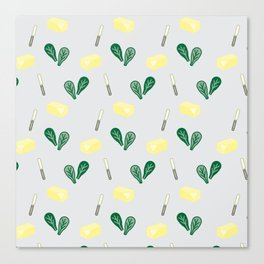Butter & Spinach Canvas Print