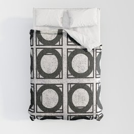 Beyond Zero in black and white Comforters