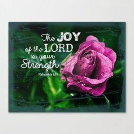 Nehemiah 8:10 Canvas Print