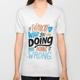 Doing it Wrong Unisex V-Neck