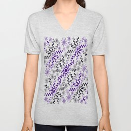 Abstract Mixed Media Series Sunshine Breaking Through the Clouds 23 Unisex V-Neck