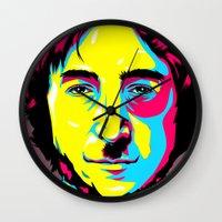 leon Wall Clocks featuring Leon Mozes by shizoy
