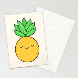 Happy Pineapple Stationery Cards