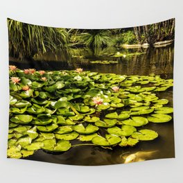 Water Lily Pond at Huntington Gardens No. 2 Wall Tapestry