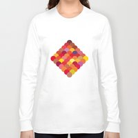 scales Long Sleeve T-shirts featuring Red Scales by Lea.I