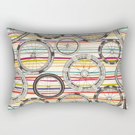 bike wheels stripe Rectangular Pillow