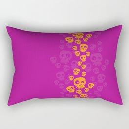 Skulls Fun - orange/pink Rectangular Pillow