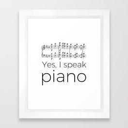 I speak piano Framed Art Print
