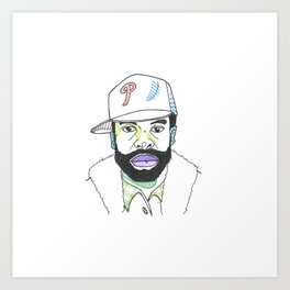 The Rapper-a-Day Project | Day 19: Black Thought Art Print