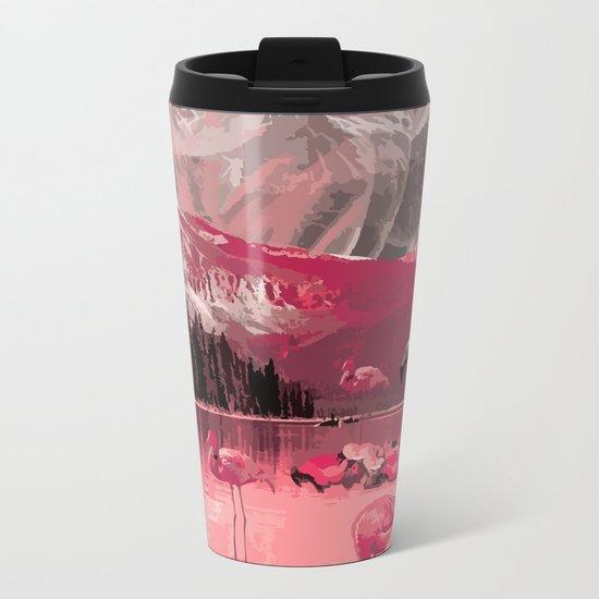 Flamingo Land Metal Travel Mug