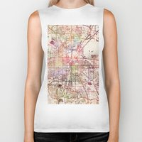 denver Biker Tanks featuring Denver by MapMapMaps.Watercolors