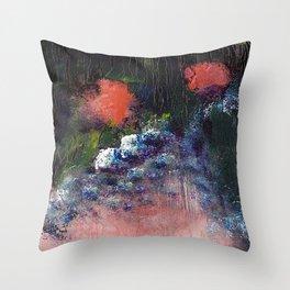Poppy - Mixed Media Acrylic Abstract Modern Art, 2009 Throw Pillow