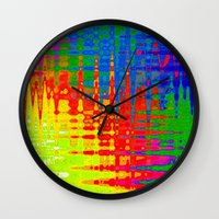 nietzsche Wall Clocks featuring Chaos by Geni