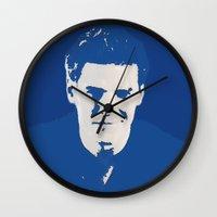 buffy the vampire slayer Wall Clocks featuring Angelus - Buffy the Vampire Slayer by Laura