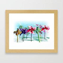 Contrary Mary's Garden Framed Art Print