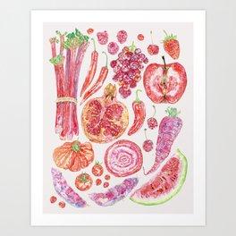 Harvest of Red - Neutral Art Print
