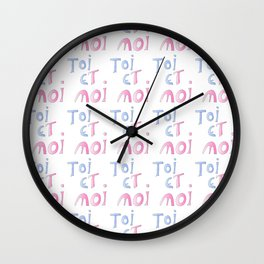 Toi et moi – Marriage, love, romantism,romantic,cute,beauty, tender, tenderness Wall Clock
