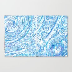 Consider Blue for a moment or two Canvas Print